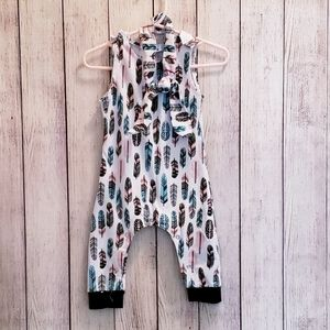 Feather Romper with Headband